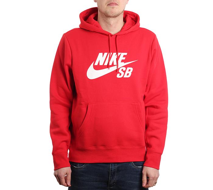 Nike SB Icon Hoodie University Red / White