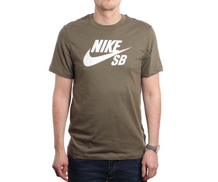 separation shoes 1410d 9aa9d Nike SB Logo Tee Medium Olive   White