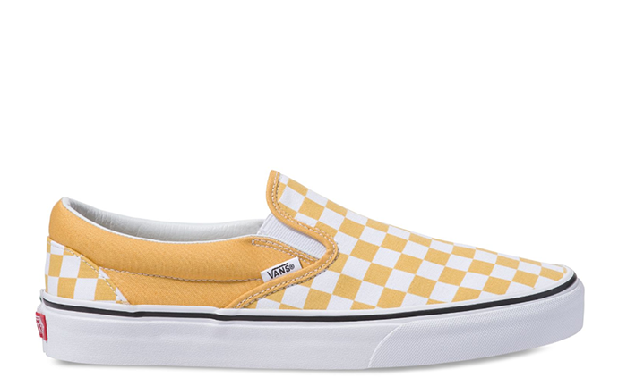 Vans Checkerboard Slip-On Yolk Yellow / True White