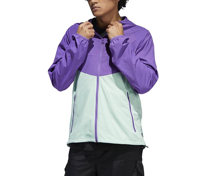 Adidas Originals Dekum Packable Wind Jacket Active Purple / Clear Mint