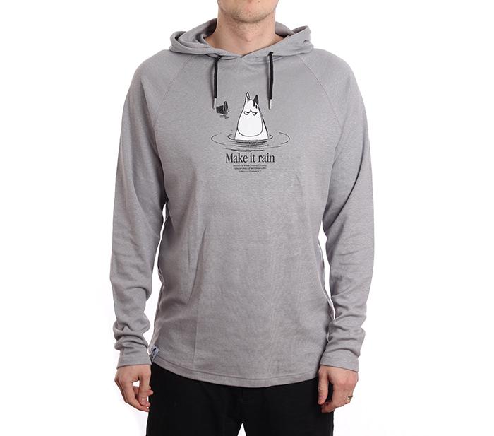 Makia X Moomin Kylpy Hooded Sweatshirt Grey