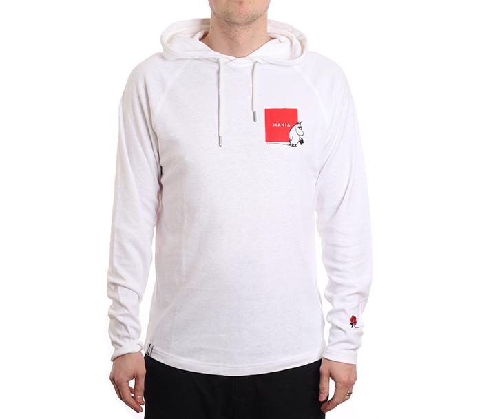 Makia X Moomin Kiltti Hooded Sweatshirt White