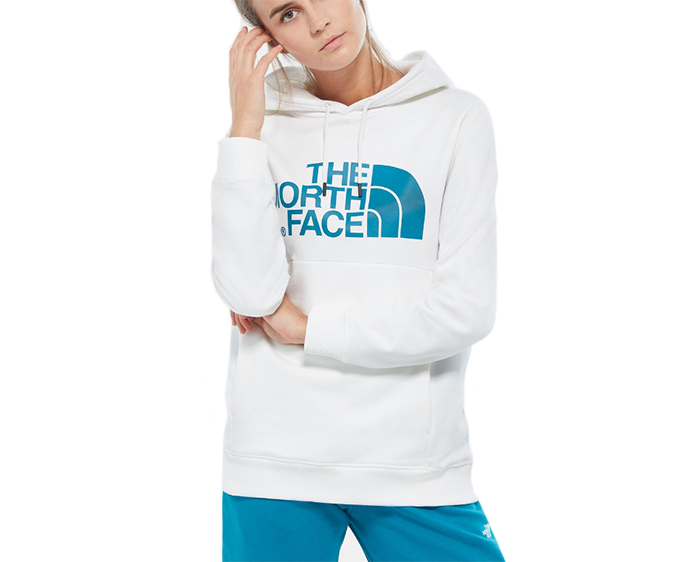 The North Face Womens Drew Peak Hoodie TNF White / Crystal Teal