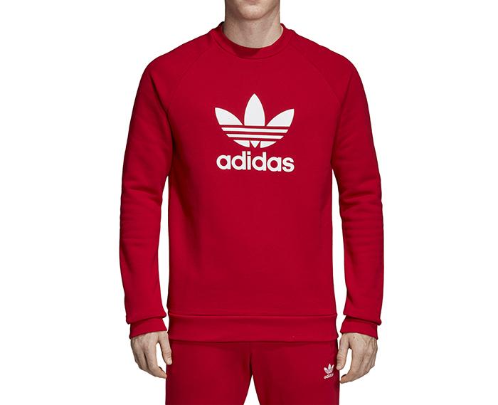 Adidas Trefoil Crew Sweatshirt Power Red
