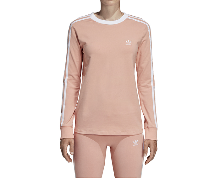 Adidas 3 Stripes LS Tee Dust Pink