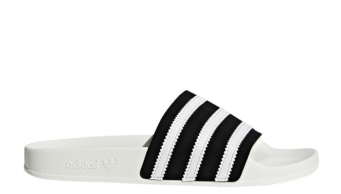 e19abacd7c25 Adidas Adilette Slides Core Black   FTWR White   Off White ...