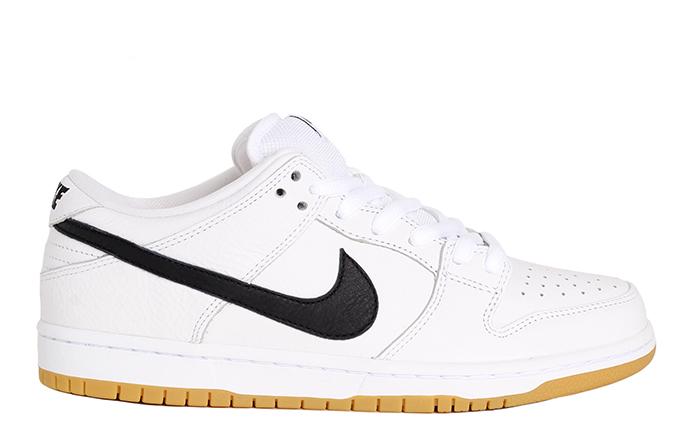 fdd70bad4335a Nike SB Dunk Low Pro ISO White   Black - White - Gum Light Brown ...