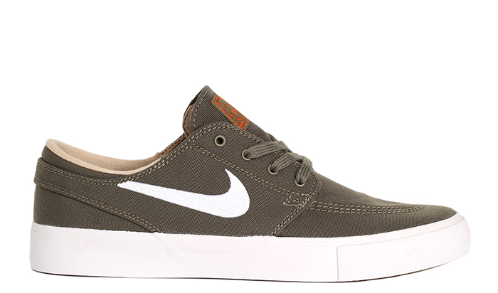 Nike SB Janoski Canvas RM Medium Olive / White - Campfire Orange