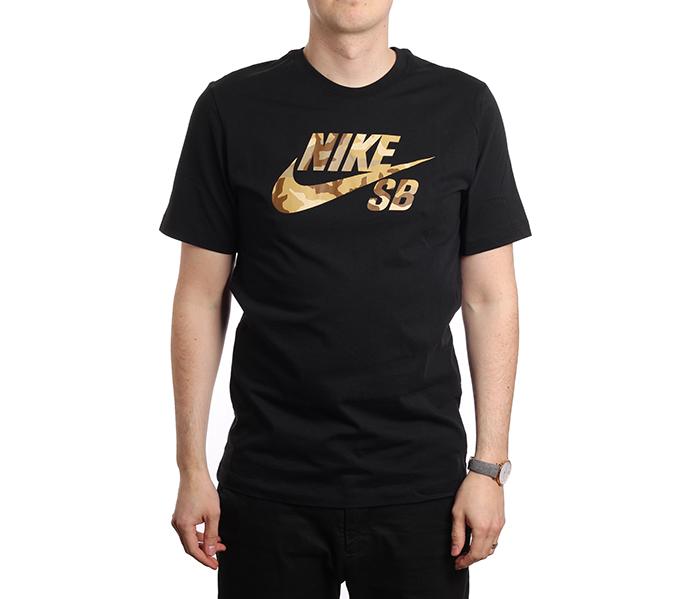 2756f014a Nike SB Logo Skate Tee Black - Boardvillage