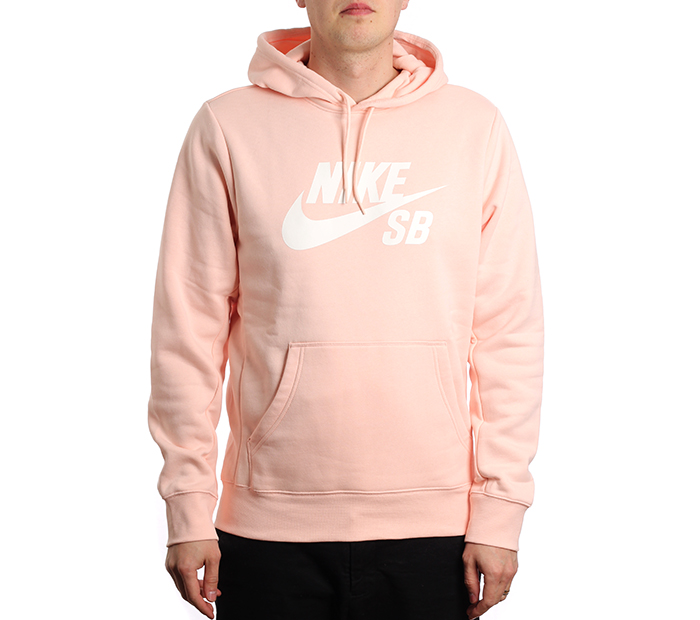 505a277f92298 Nike SB Icon Hoodie Washed Coral / White - Boardvillage