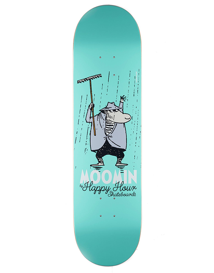 MOOMIN By Happy Hour Skateboards The Hemulen Deck 8.375