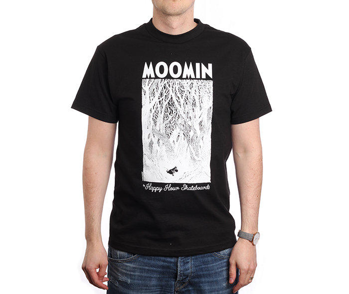 MOOMIN By Happy Hour Skateboards Forest T-Shirt Black