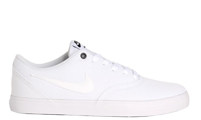 Nike SB Check Solarsoft Canvas White / White - Black