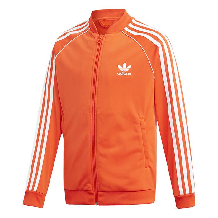 Adidas Junior SST Track Jacket Active Orange / White