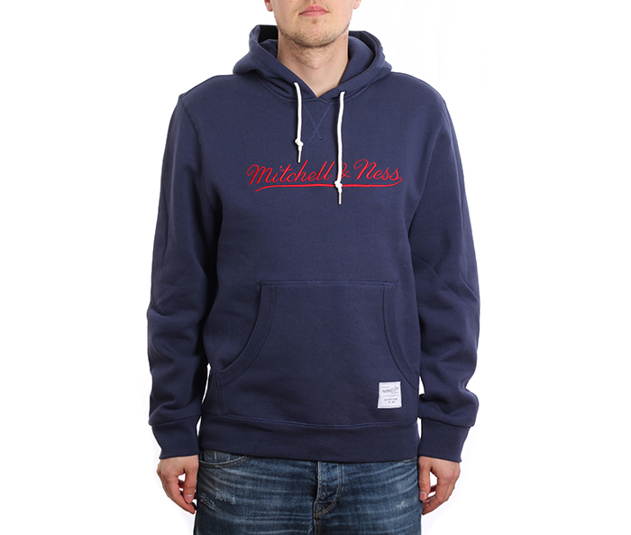 Mitchell & Ness Branded Essentials Hoodie Navy