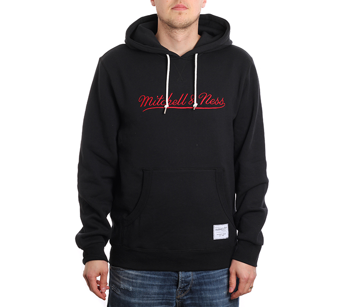 Mitchell & Ness Branded Essentials Hoodie Black