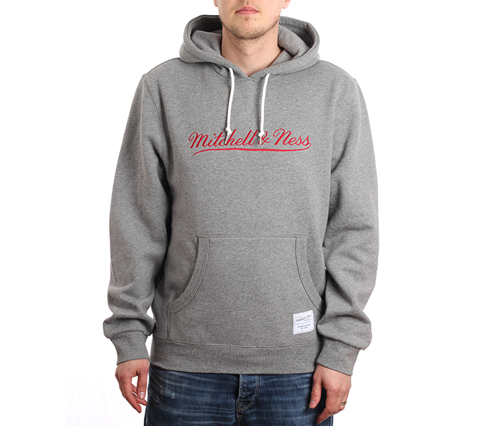 Mitchell & Ness Branded Essentials Hoodie Grey