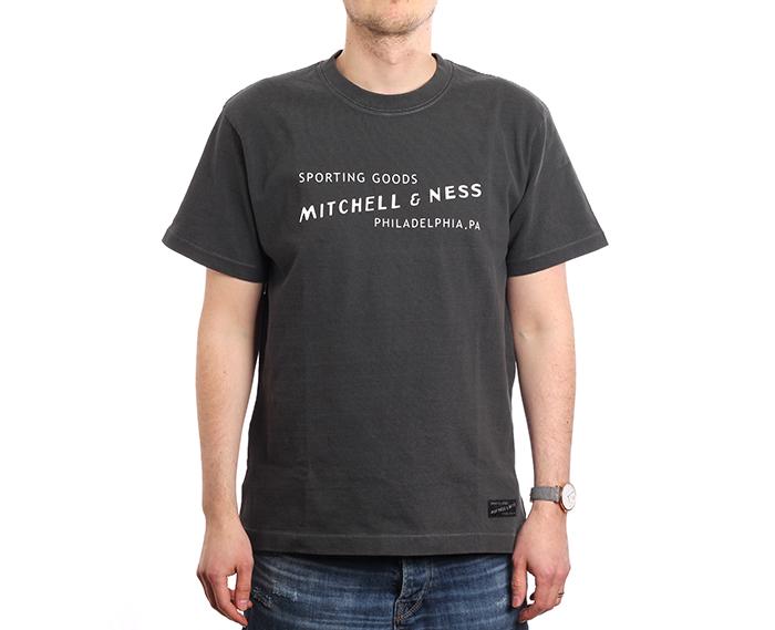 Mitchell & Ness Label Tee Black
