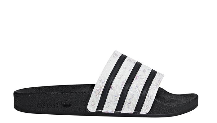Adidas Womens Adilette Slides Core Black / Core Black / Core Black