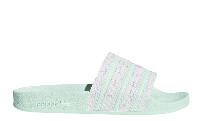 Adidas Womens Adilette Slides Ice Mint / Ice Mint