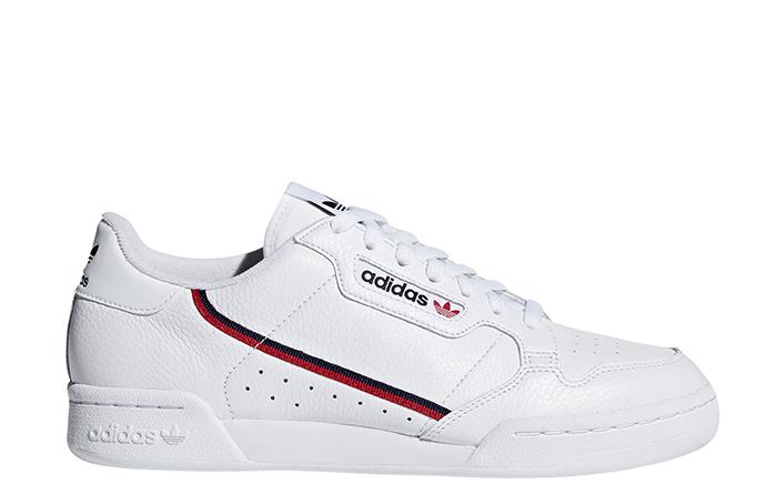 Adidas Continental 80 FTWR White / Scarlet / Collegiate Navy