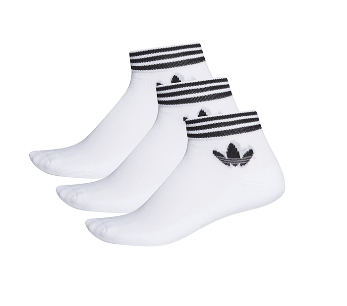 Adidas Trefoil Ankle Stripe Socks HC 3-Pack White / Black