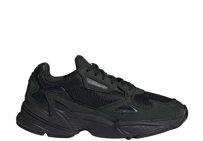 Adidas Womens Falcon Core Black / Core Black / Grey Five
