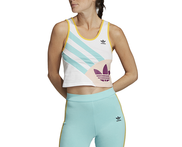 Adidas Womens Sportive 90's Cropped Tank Top White