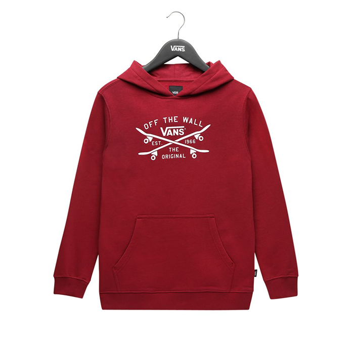 Vans Youth Skate Lock Up Hoodie Rhumba Red