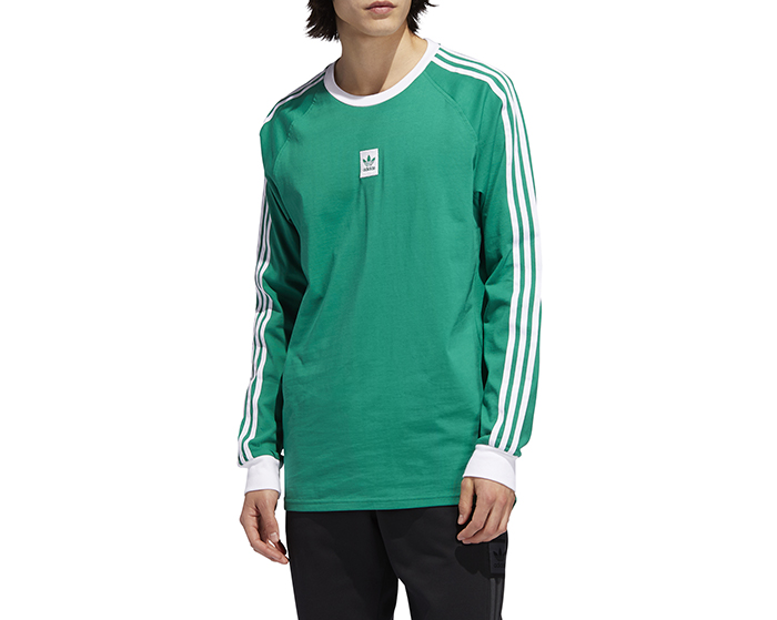 Adidas Originals LS Cali BB Tee Bold Green / White