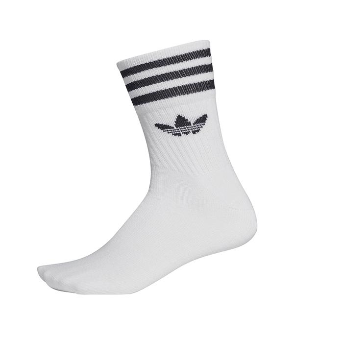 Adidas Originals Mid Cut Crew Socks 3-Pack White / Black