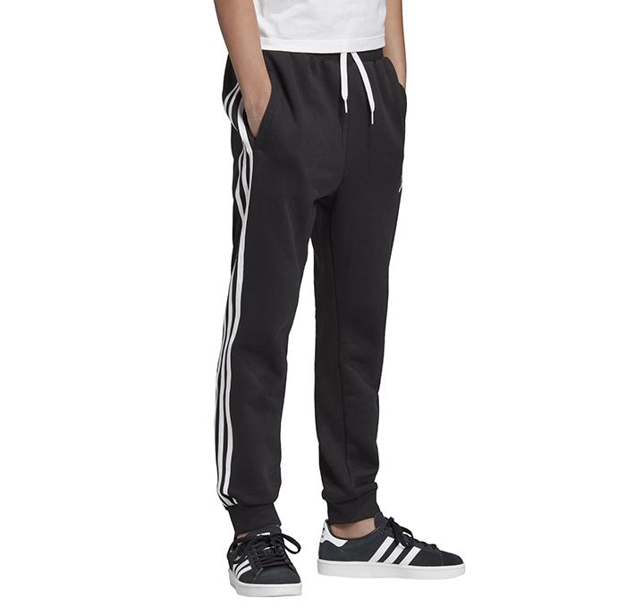 Adidas Junior 3 Stripes Pants Black / White