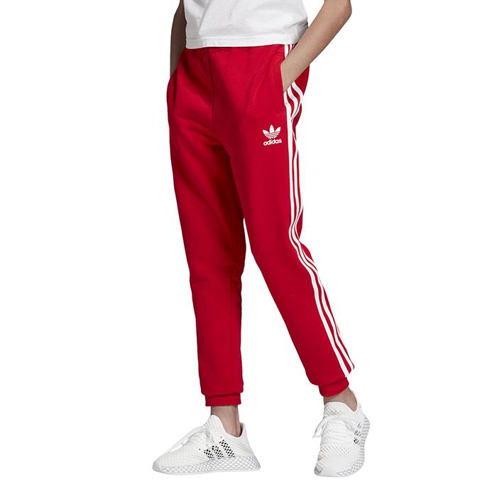 Adidas Junior 3 Stripes Pants Scarlet / White