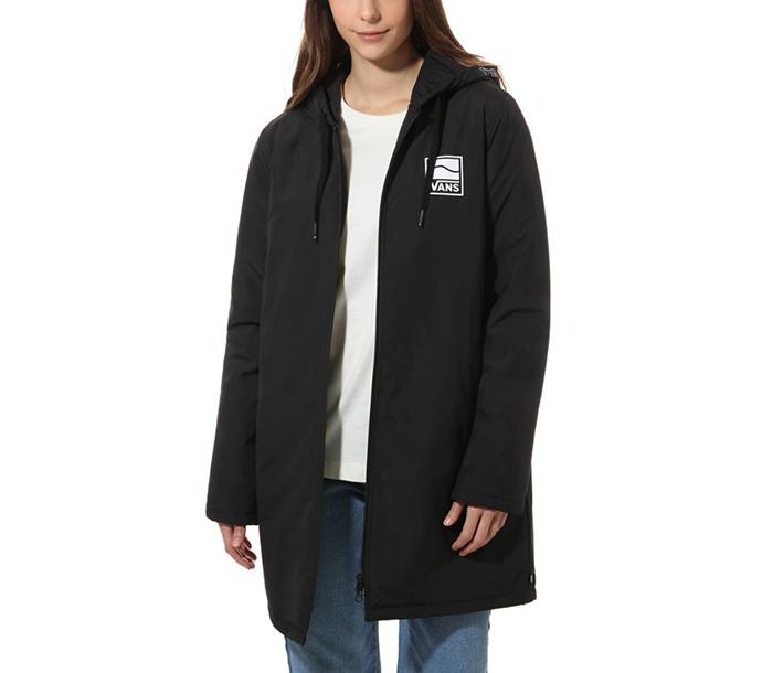 Vans Womens Alli Sidestripe Windbreaker Jacket Black