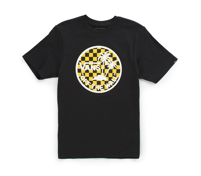 Vans Youth Dual Palm Logo Tee Black / Sulphur