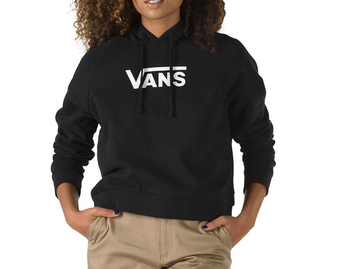 Vans Womens Flying V Boxy Hoodie Black