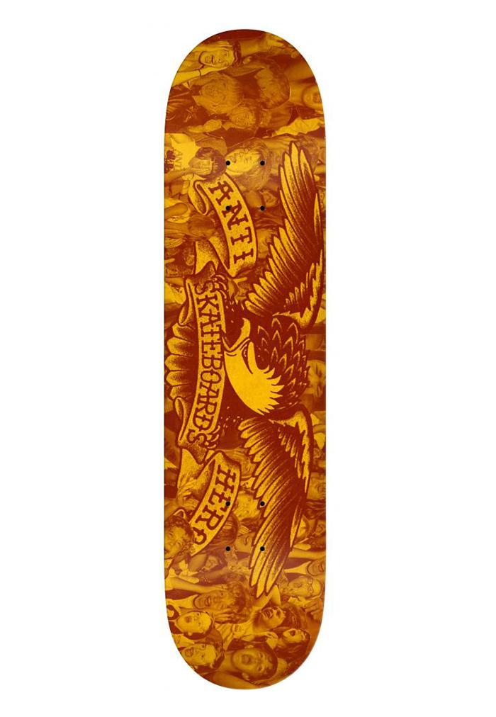 Anti Hero Fan Club Deck Orange / Black 7.75