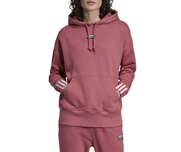 Adidas Originals Womens Vocal Hoodie Trace Maroon Boardvillage