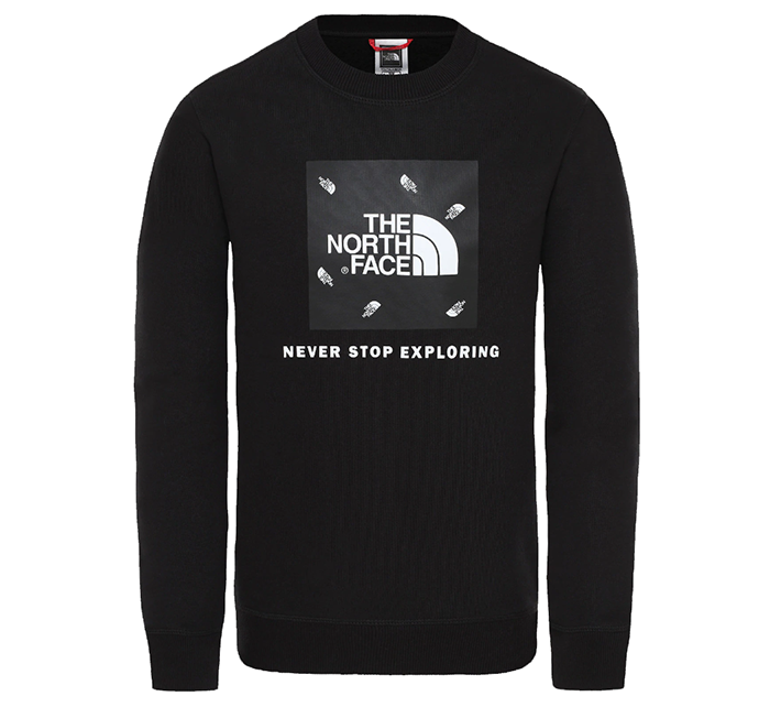 The North Face Youth Box Crew TNF Black Tossed Logo Print