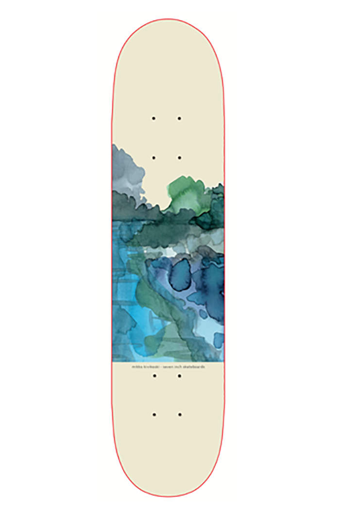 Seven Inch Skateboards Kivi Aquarel 8.125