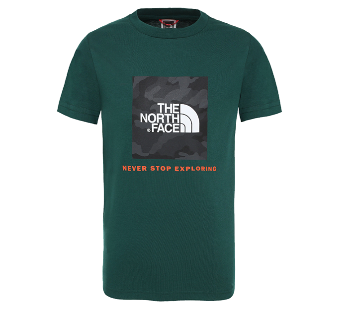 The North Face Youth Box Tee Night Green