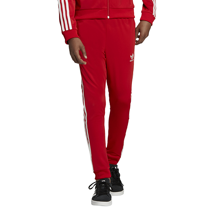 Adidas Youth SST Track Pants Scarlet / White