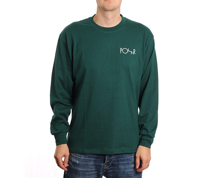 Polar Skate Co. Stroke Logo Longsleeve Dark Green