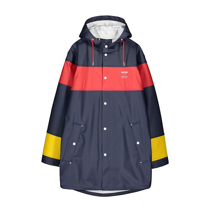 Makia X Tretorn Block Rain Jacket Navy