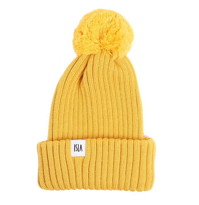 ISLA Senja Merino Beanie Yellow