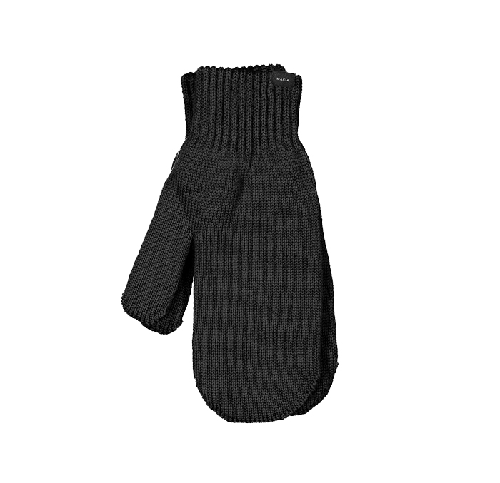 Makia Wool Mittens Black
