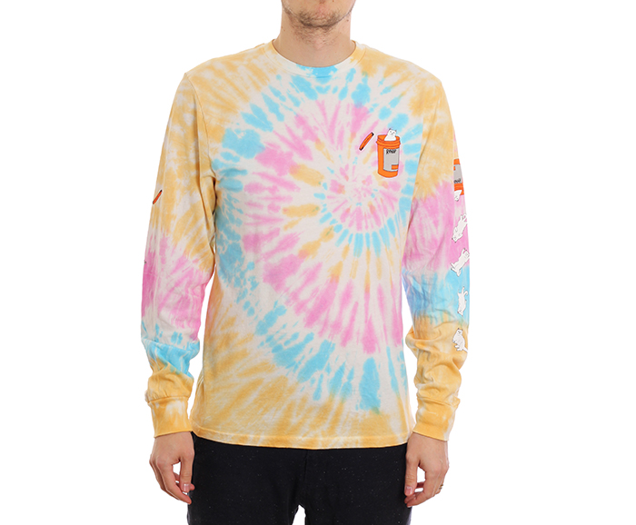 RIPNDIP Nermal Pills Longsleeve Gold Rainbow Wash