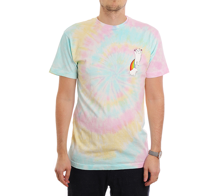 RIPNDIP Double Nerm Rainbow Tee Pastel Spiral Dye