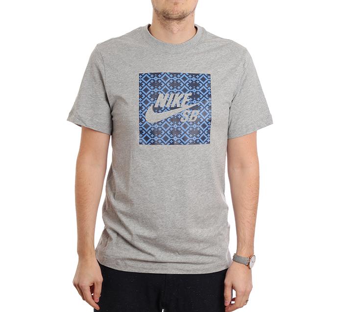 Nike SB Logo Tee Nomad Dark Grey Heather