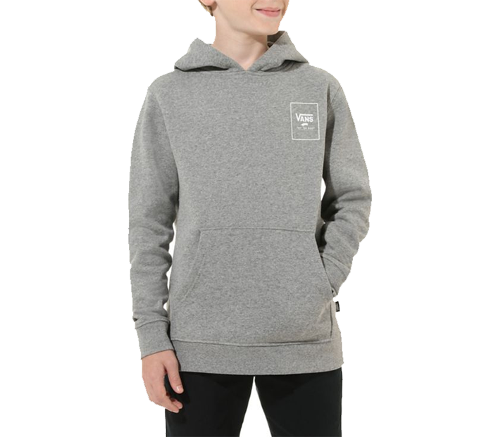 Vans Youth Print Box Back Hoodie Cement Heather / Port Royale Camo